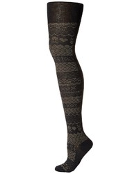 Collants imprimés noirs Betsey Johnson