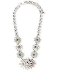 Collar de Flores Plateado de Ginette