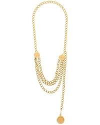 Collar dorado de Chanel