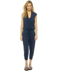 Combinaison pantalon bleue marine Helmut Lang