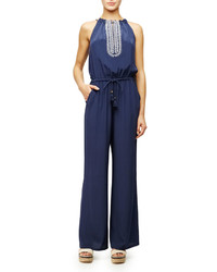 Combinaison pantalon bleue marine Tory Burch