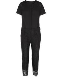 Combinaison pantalon en dentelle noire J.Crew