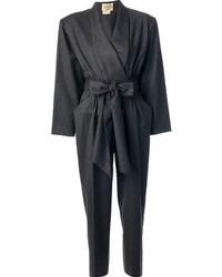 Combinaison pantalon grise foncée Hermes