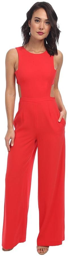 ee6a214701349 Combinaison pantalon rouge BCBGMAXAZRIA  Où acheter et comment porter