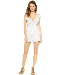 Combishort en broderie anglaise blanc Zimmermann