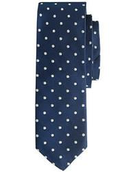 Corbata a lunares en azul marino y blanco