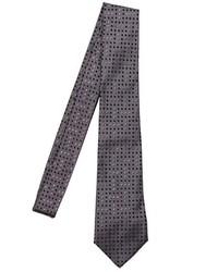 Corbata a lunares en gris oscuro de Giorgio Armani