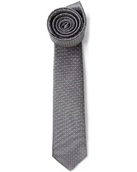 Corbata a lunares en gris oscuro de Lanvin