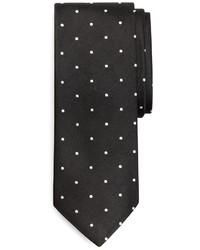 Corbata a lunares en negro y blanco