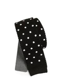 Corbata a lunares en negro y blanco de Edit by The Tie Bar