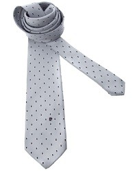 Corbata a lunares gris de Pierre Cardin