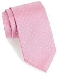 Corbata a lunares rosada de Hugo Boss