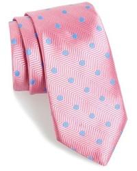 Corbata a lunares rosada de Nordstrom