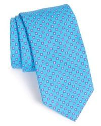 Corbata con estampado geométrico en turquesa de Ted Baker
