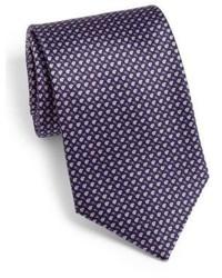 Corbata con estampado geométrico morado oscuro