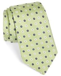 Corbata con print de flores verde de Nordstrom