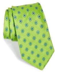 Corbata con print de flores verde de Ted Baker London