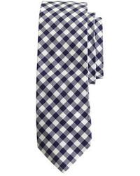 Corbata de cuadro vichy en blanco y azul marino de J.Crew