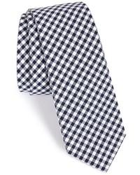 Corbata de cuadro vichy en blanco y azul marino de The Tie Bar
