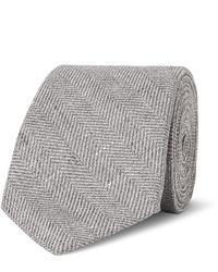 Corbata de espiguilla gris de Brunello Cucinelli
