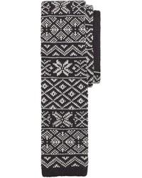 Corbata de grecas alpinos en negro y blanco