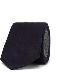Corbata de lana azul marino de Brunello Cucinelli