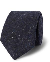 Corbata de lana azul marino de Oliver Spencer