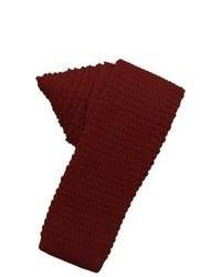 Corbata de lana burdeos