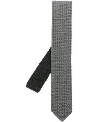 Corbata de lana de punto gris de Ermenegildo Zegna