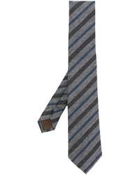 Corbata de lana de rayas verticales gris de Church's