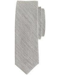 Corbata de lana de rayas verticales gris de J.Crew