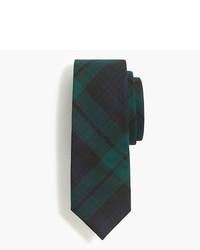 Corbata de lana de tartán verde oscuro de J.Crew