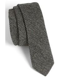 Corbata de lana en gris oscuro de Topman