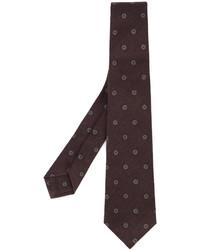 Corbata de lana estampada morado oscuro de Kiton
