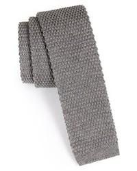 Corbata de lana gris de BOSS HUGO BOSS