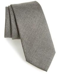 Corbata de lana gris