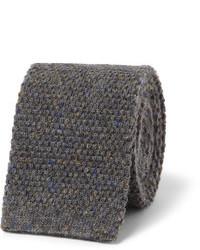 Corbata de lana gris de Oliver Spencer
