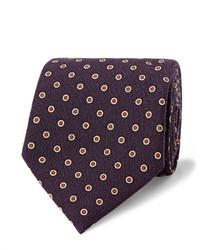 Corbata de lana morado oscuro