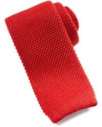 Corbata de lana roja
