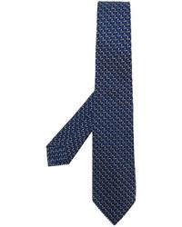 Corbata de lana tejida azul marino de Kiton