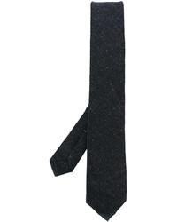 Corbata de lana tejida en gris oscuro de Kiton