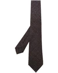 Corbata de lana tejida en marrón oscuro de Kiton
