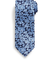 Corbata de paisley azul marino