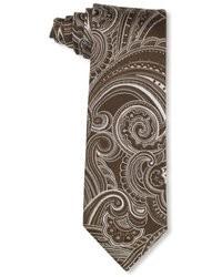 Corbata de paisley marrón