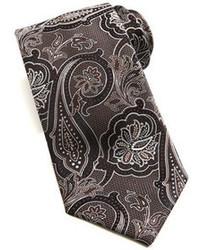 Corbata de paisley marrón de Brioni