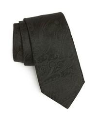 Corbata de paisley negra de Michael Kors
