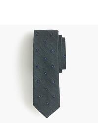 Corbata de paisley verde oscuro