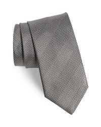 Corbata de pata de gallo gris