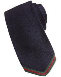 Corbata de punto azul marino de Gucci