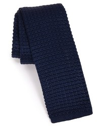 Corbata de punto azul marino de The Tie Bar
